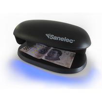 Detector De Billetes Falsos Sanelec Con Luz Uv Envio Gratis