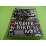 Soldier Of Fortuna Payback Original Xbox 360 Mídia Física