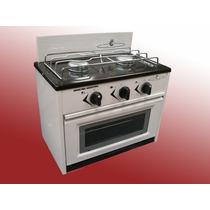 Cocina 2 Y 4 Hornallas C/horno Frente Vidrio Valvula Segurid