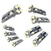 Led´s T10 Com 8 Led´s Super Branco (esmagadinha) Cambus