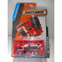 Matchbox Camion Autobus Bus Two-story Bus Doble Piso Rojo