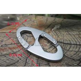 Chaveiro Aluminio Mosquetão Pressão Gancho 100 Kg Frete12,90