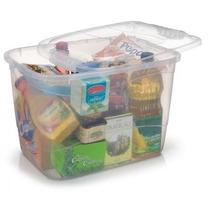Kit 10 Caixa Plastica Organizadora De Alimentos 20l