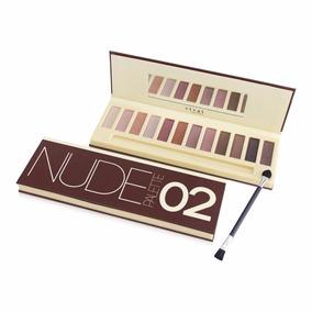 Maquiagem Nude 2 Vivai Paleta Kit 12 Sombras = Naked+pincel