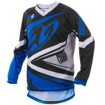 Camisa Infantil Trilha Motocross Protork Insane 4 Azul