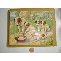 Antiguo Rompecabezas De Perros. Las Piezas Son De Madera