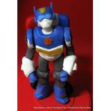 Transformers Rescue Bots Adorno Para Torta Porcelana Fría