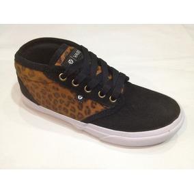 Zapatilla ** Vairo ** Mod. Hardflip Black Leopardo