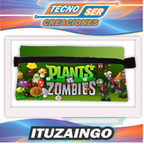 Cartucheras Personalizadas Plants Vs Zombies Impresa 2 Caras