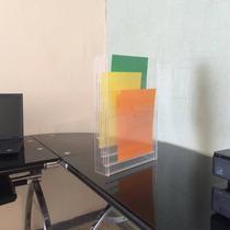 Exhibidor De Hojas Vertical, 6 Niveles En Acrilico De 3mm