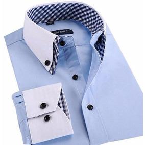 Camisa Social Casual Slim Fit Estilo Grego