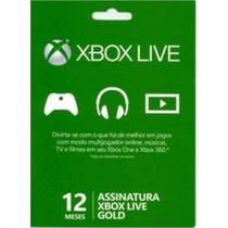 Cartão Xbox Live Gold Brasil 12 Meses Br Assinatura 1 Ano