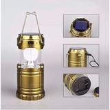 Lampiao Solar Led Usb Lanterna Bateria Recarregavel Retratil