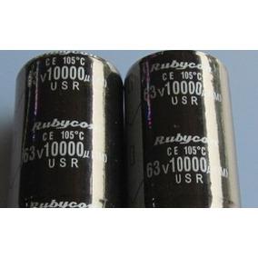 Capacitor Eletrolítico 10000uf X 63v * 10000 X 63 Lote 4un