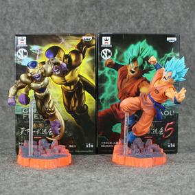 Kit Goku Deus + Freeza Dourado Action Figure Pronta Entrega