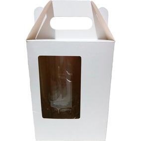 100 Caixinha C/janela P/caneca Chopp 475ml Vidro/acrilico