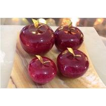 Juego De 4 Manzanas En Onix En Color