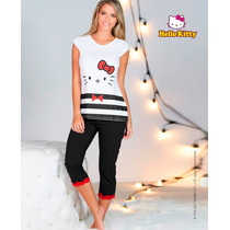 Pijama Hello Kitty Pantalon Capri 4635 Vicky Form