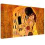 Cuadro El Beso De Klimt En Lienzo 100x50cm