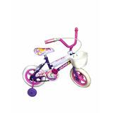 Bicicleta Rodado 12 Con Ruedas Macizas Y Rueditas De Apoyo