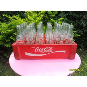 Cajón De Gaseosa Coca Cola Plástico Con Sus 24 Botellitas
