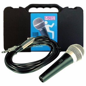 Microfone Csr Ht 48a Dinâmico Com Cabo 5m Case