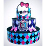 Bolo Cenográfico Monster High # Em Papel Fotográfico # Lindo