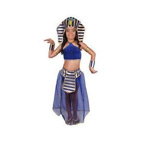 Disfraz Carnavalito Princesa Egipcia Azul