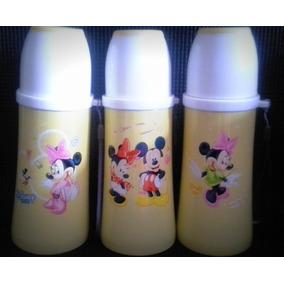 Termo Agua Caliente 350ml Bebe Tetero Acero Mickey Original