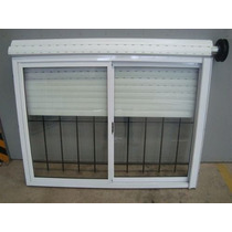 Ventana Aluminio Bco 150x150 Vidrio Cortina Reja Mosquitero