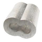 Casquillo Doble De Aluminio 3/16 Con 50 Pzas