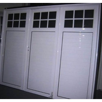 Porton Garaje Aluminio Blanco 240x200 Tecnooeste Fabrica