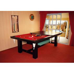 Mesa De Pool Multifuncional Vecchio Pool Con Juego De Bancos