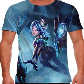 Camiseta League Of Legends Irelia Laminas Gelidas Masculina