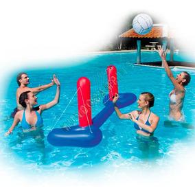Juego de voley inflable con pelota y red bestway para pileta juegos de aire libre y agua en - Red voley piscina ...