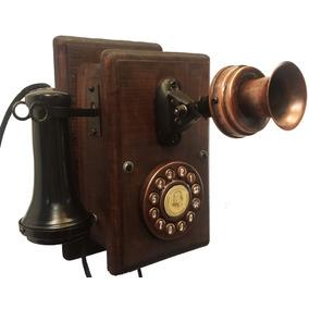 Telefone Antigo Nelphone De Parede Mogno