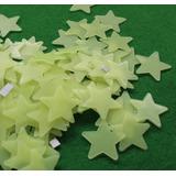 Estrela Fluorescente Parede E Teto - Adesivo Luminoso 100pc