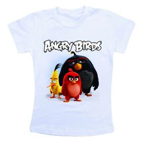 Camiseta Baby Look Feminina - Angry Birds