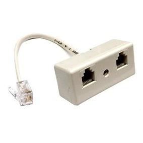 Rj11 Plug A 2 Vías Rj11 Unidos Teléfono Socket Adaptador Spl
