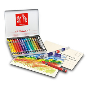 Giz Aquarelável Neocolor 2 15 Cores - Creative Box
