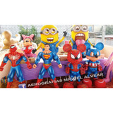 Monigotes Añoviejos Muñecos Minion Spiderman Mickey Pocoyo