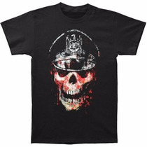 Slayer - Skull Hat T Shirt Importada - Talla S