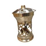 Rechoud Bronze Vela Aromatizador Difusor Dourado Essencia