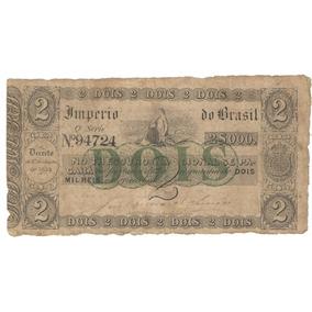 R 019 2 Mil Reis Ano 1860 Rara Mbc