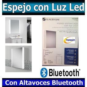Espejo Rectangular Con Luz Led Y Bocinas Bluetooth Nuevo