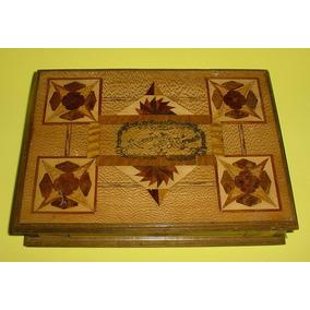 antigua alhajero caja madera marquetera simbolos masnicos