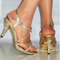 Sandalias Importadas Doradas, Entrega Inmediata