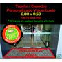 Tapete Capacho Vinil Personalizado Vulcanizado 0,80 X 0,50
