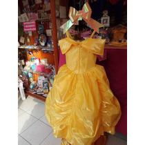 Vestido Fino De La Bella Y La Bestia Tallas: 6 Y 8