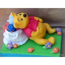 Adorno Para Torta Winnie Pooh Porcelana Fría Narartesana